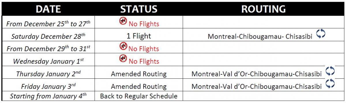 CBHSSJB Charter holiday 2019-2020 schedule changes