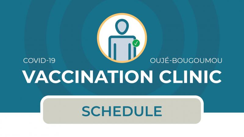 COVID-19 vaccination schedule for Oujé-Bougoumou