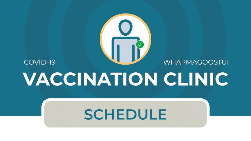 COVID-19 vaccination schedule for Whapmagoostui