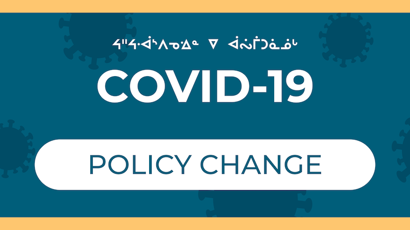 COVID-19: Policy change