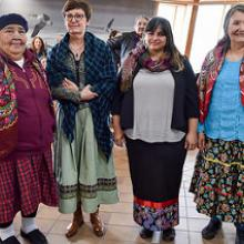 Elder Beulah Crowe, Midwife Catherine Gerbelli, Midwife Jessyka Boulanger and Elder Janie Pachano.