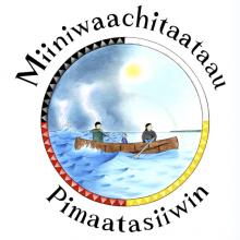 Miiniwaachitaataau Pimaatisiiwin logo
